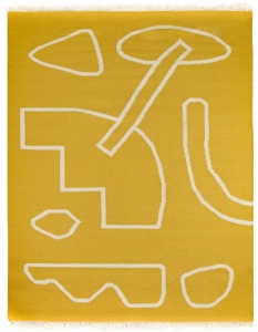 Ковер из шерсти Poetry and Steps 230X160 CM горчичного цвета