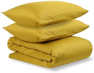 Комплект постельного белья двуспальный из сатина Essential горчичного цвета