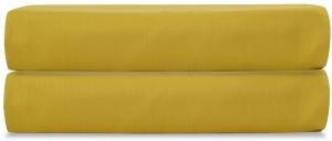Простыня на резинке из сатина Essential 160X200X28 CM горчичного цвета