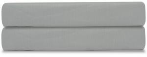 Простыня на резинке из сатина Essential 180X200X28 CM светло-серого цвета