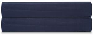 Простыня на резинке из сатина Essential 180X200X28 CM  темно-синего цвета