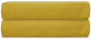 Простыня на резинке из сатина Essential 180X200X28 CM горчичного цвета