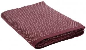 Плед из хлопка фактурной вязки Essential 130X180 CM  бордового цвета
