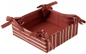 Корзинка для хлеба из хлопка Prairie 30X30 CM терракотового цвета