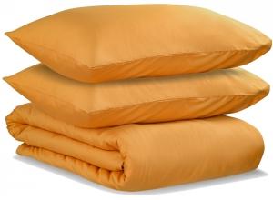 Комплект двуспальный из сатина Wild цвета шафрана