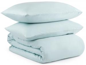 Комплект постельного белья двуспальный из сатина Essential  голубого цвета
