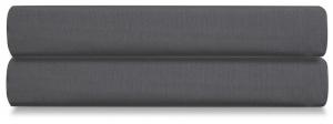 Простыня на резинке из сатина Wild 160X200 CM тёмно-серого цвета