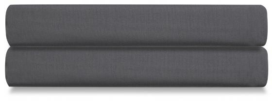 Простыня на резинке из сатина Wild 160X200 CM тёмно-серого цвета 1
