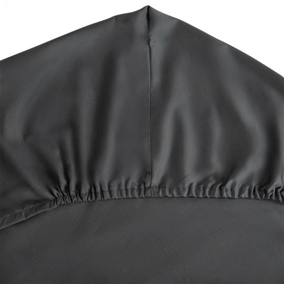 Простыня на резинке из сатина Wild 160X200 CM тёмно-серого цвета 2
