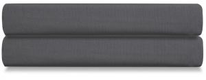 Простыня на резинке из сатина Wild 180X200 CM тёмно-серого цвета