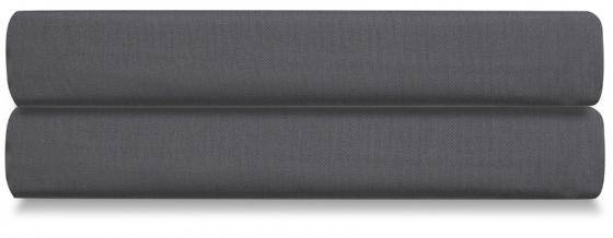 Простыня на резинке из сатина Wild 180X200 CM тёмно-серого цвета 1