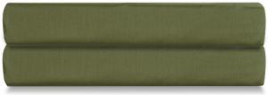 Простыня на резинке из сатина Wild 180X200X30 CM оливкового цвета
