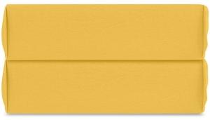 Простыня на резинке из органического стираного хлопка Essential 160X200X35 CM горчичного цвета