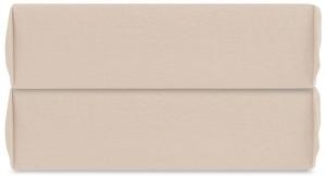Простыня на резинке из органического стираного хлопка Essential 160X200X35 CM  бежевого цвета