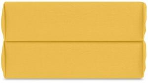 Простыня на резинке из органического стираного хлопка Essential 180X200X35 CM горчичного цвета