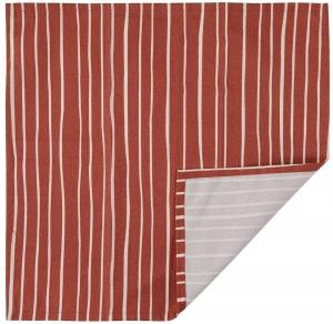 Салфетка сервировочная из хлопка Prairie 45X45 CM терракотового цвета