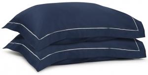 Две сатиновые наволочки из египетского хлопка Essential 50X70 CM тёмно-синего цвета