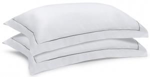 Две сатиновые наволочки из египетского хлопка Essential 50X70 CM белого цвета