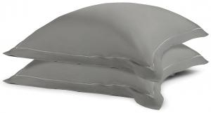 Две сатиновые наволочки из египетского хлопка Essential 70X70 CM серого цвета