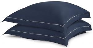 Две сатиновые наволочки из египетского хлопка Essential 70X70 CM тёмно-синего цвета