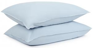 Наволочки из органического стираного хлопка Essential 50X70 / 50X70 CM небесно-голубого цвета