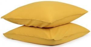 Наволочки из органического стираного хлопка Essential 70X70 / 70X70 CM горчичного цвета
