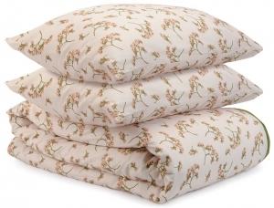 Комплект двуспальный из сатина Prairie оливкового цвета