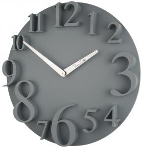 Настенные часы в пластиковом корпусе UTS Ø32CM серые