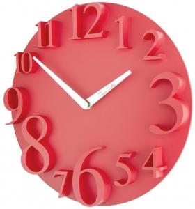 Настенные часы в пластиковом корпусе UTS Ø32CM красные