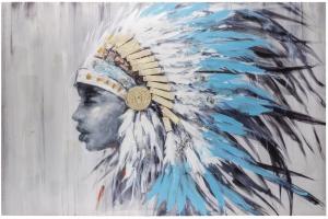 Фактурная картина North American Indian 120X80 CM