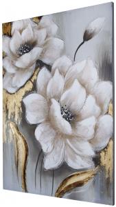 Фактурная картина White Flower 70X100 CM