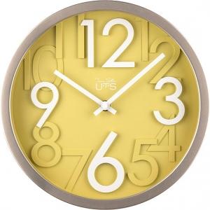 Стильные настенные часы White and Yellow Ø26 CM