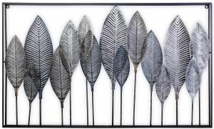 Панно с коваными из стали листьями 112X66X5 CM