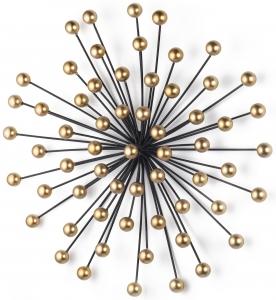 Объёмный настенный декор из стали Blowball 49X13X48 CM