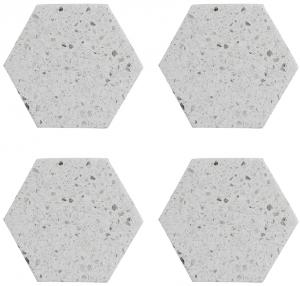 Набор из 4 подставок Elements Hexagonal 10X10 CM