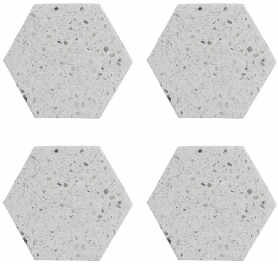 Набор из 4 подставок Elements Hexagonal 10X10 CM 1