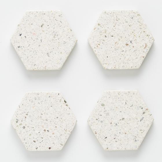 Набор из 4 подставок Elements Hexagonal 10X10 CM 2
