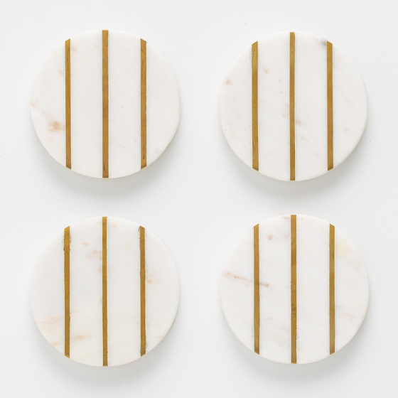 Набор из 4 подставок из мрамора Elements Ø10 CM 3
