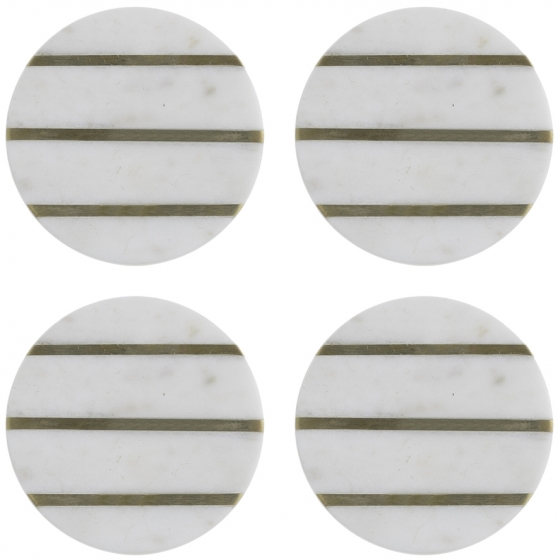 Набор из 4 подставок из мрамора Elements Ø10 CM 1