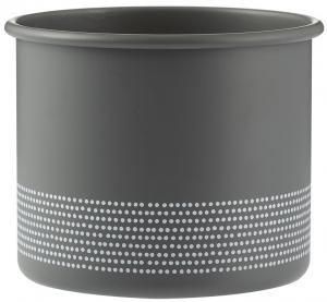 Кашпо Monochrome 700 ml серого цвета