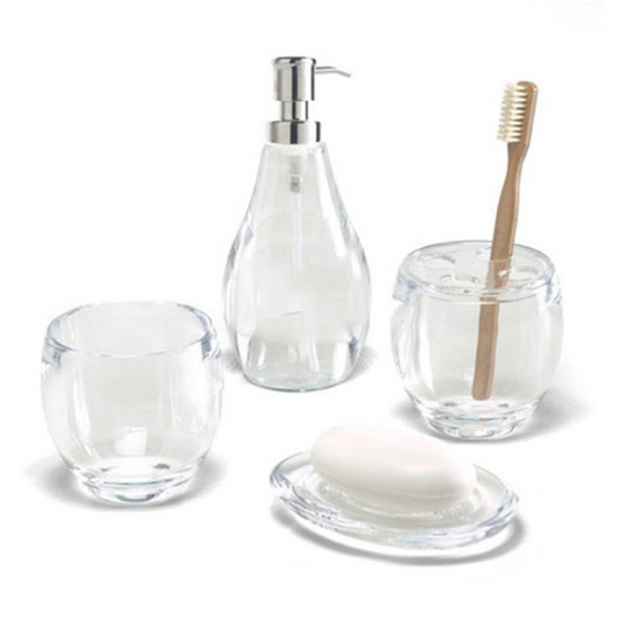 Диспенсер для мыла droplet прозрачный 2