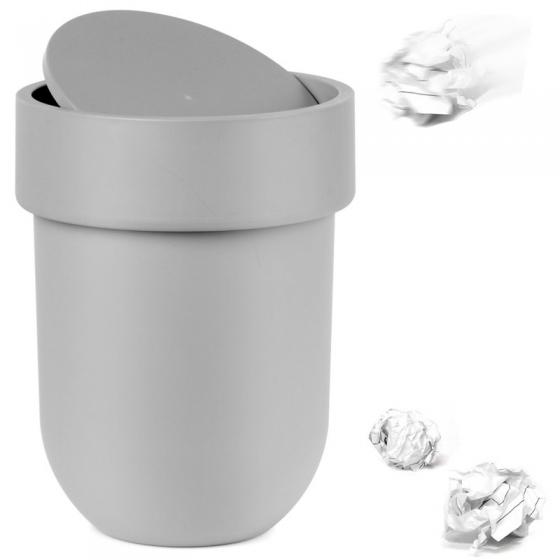 Контейнер мусорный touch с крышкой серый 1