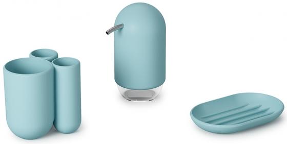 Диспенсер для мыла Touch 235 ml голубой 7