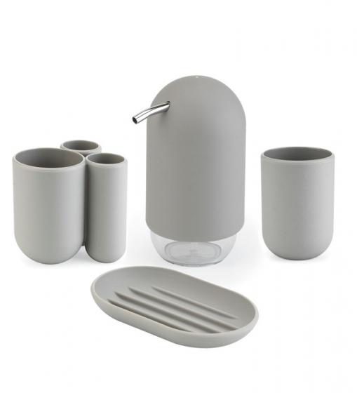 Диспенсер для мыла touch серый 2