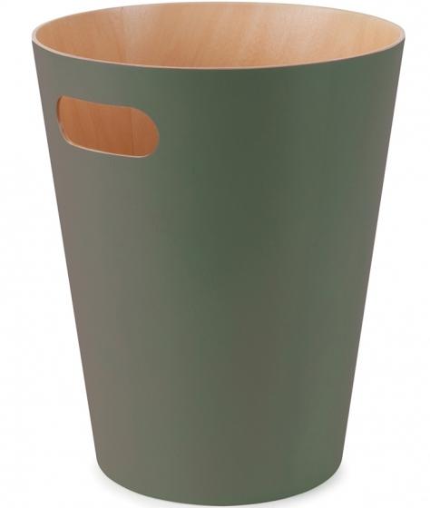 Корзина для мусора woodrow зелёная 1