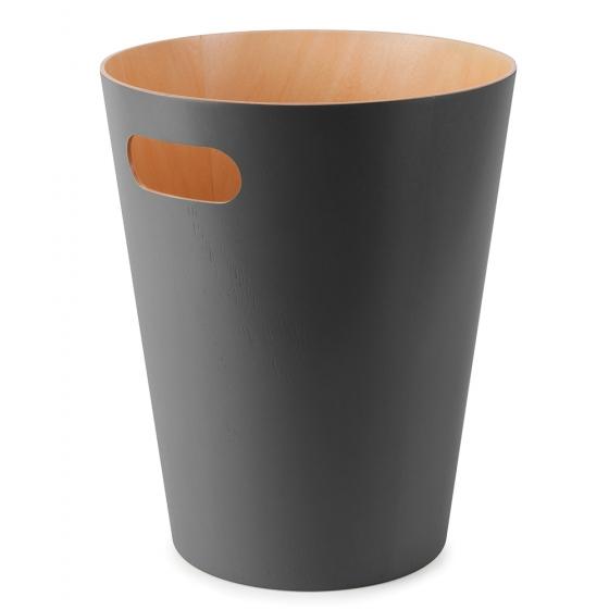 Корзина для мусора woodrow серая 1
