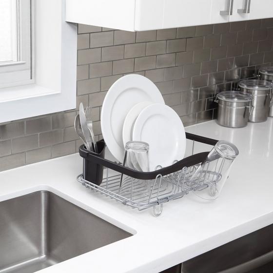 Сушилка для посуды Sinkin чёрный/никель 6