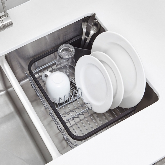 Сушилка для посуды Sinkin чёрный/никель 4