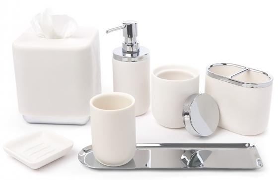 Диспенсер для мыла Junip белый-хром 5