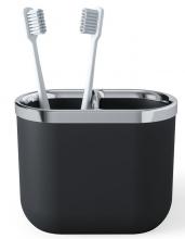 Органайзер для зубных щеток Junip чёрный-хром